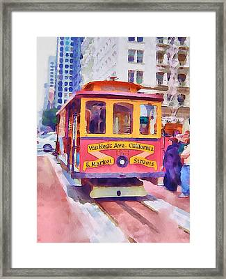San Francisco Trams 7 Framed Print by Yury Malkov