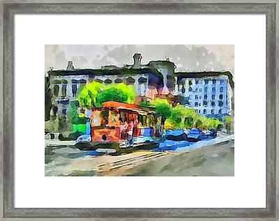 San Francisco Trams 8 Framed Print by Yury Malkov