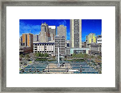 San Francisco Union Square 5d17938 Artwork Framed Print