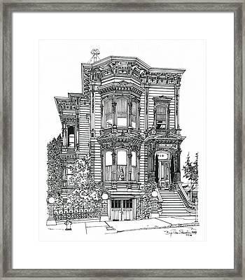 San Francisco Victorian   Framed Print by Ira Shander