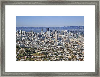 San Francisco View Framed Print by Kelley King