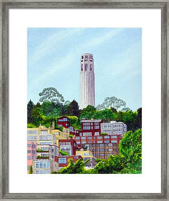 San Francisco's Coit Tower Framed Print by Mike Robles