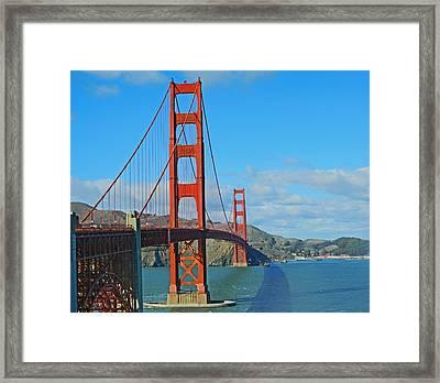 San Francisco's Golden Gate Bridge Framed Print