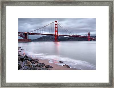 Framed Print featuring the photograph San Francisco's Golden Gate Bridge by Gregory Ballos