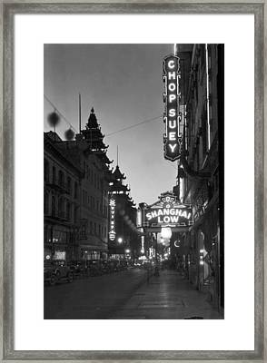 San Francisco�s Grant Avenue Framed Print