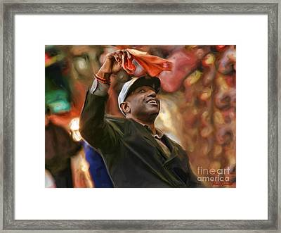 San Fransco Giants Barry Bonds Framed Print by Blake Richards