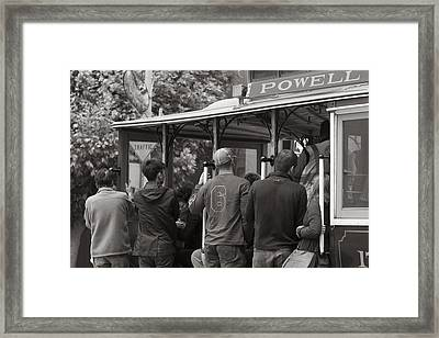 San Fransico Cable Car Framed Print by John McGraw