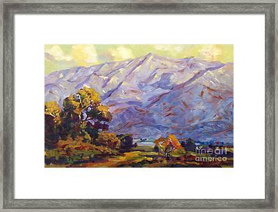 San Gabriel Mountains Framed Print