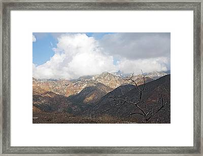 The San Gabriels Framed Print