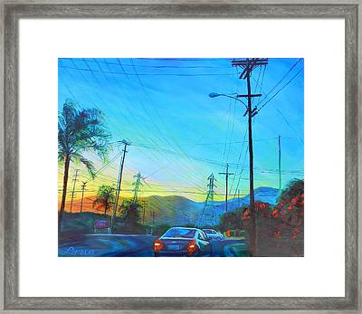 San Gabriel Rush Framed Print by Bonnie Lambert