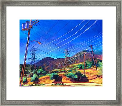 San Gabriel Power Framed Print by Bonnie Lambert