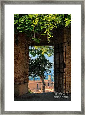 San Gimignano Door Framed Print