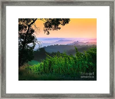 San Gimignano Hills Framed Print
