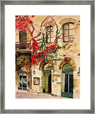 San Gimignano Framed Print by Judy Swerlick