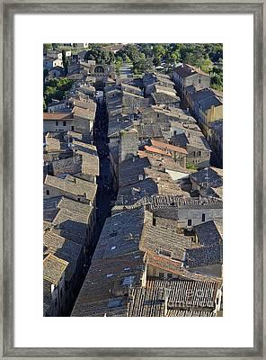 San Gimignano Main Street Framed Print