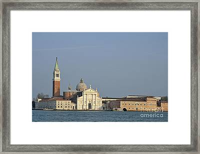 San Giorgio Maggiore Church And Canal Framed Print by Sami Sarkis