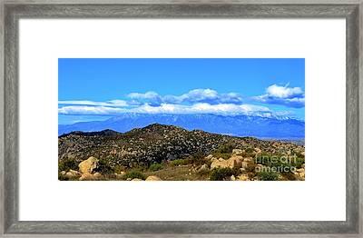 San Gorgonio Snow Cap Framed Print