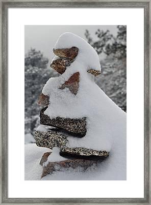 Framed Print featuring the photograph San Jacinto Balanced Rocks by Kyle Hanson