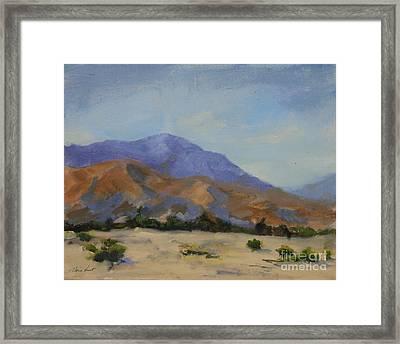 Mt. San Jacinto In Morning Light Framed Print