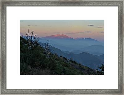 San Jacinto Sunset Framed Print