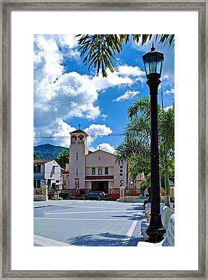 San Joaquin Catholic Church Framed Print by Ricardo J Ruiz de Porras