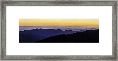 San Joaquin Sunset Framed Print