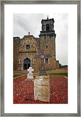 San Jose Mission Crosses Framed Print