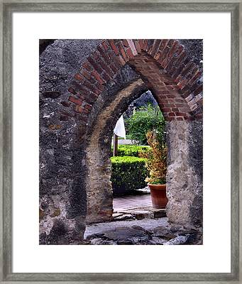 San Jose Mission View To The Past Framed Print by Ed Golden