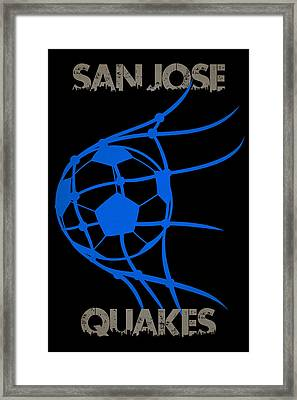 San Jose Quakes Goal Framed Print by Joe Hamilton