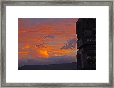San Jose Sunset Framed Print