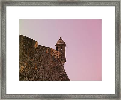 San Juan - City Lookout Post Framed Print