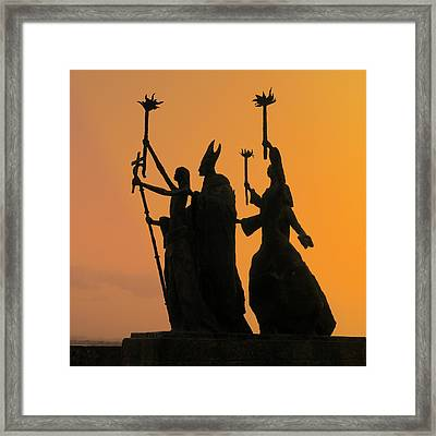 San Juan - La Rogativa Sunset Framed Print by Richard Reeve