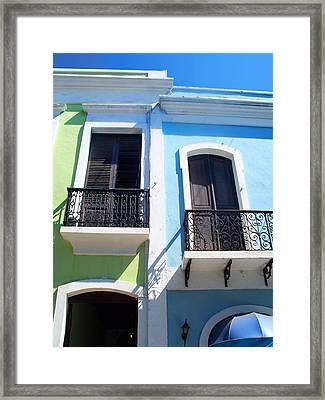 San Juan Balconies Framed Print