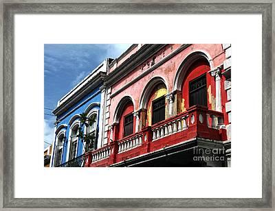 San Juan Balcony Framed Print by John Rizzuto