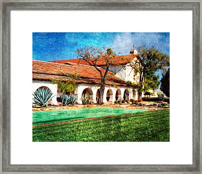 San Juan Bautista Refecting Pool Framed Print