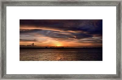 Framed Print featuring the photograph San Juan Bay by Ricardo J Ruiz de Porras