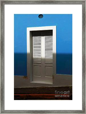 San Juan Blue Framed Print