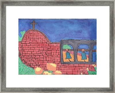 Framed Print featuring the painting San Juan Capistrano by Artists With Autism Inc