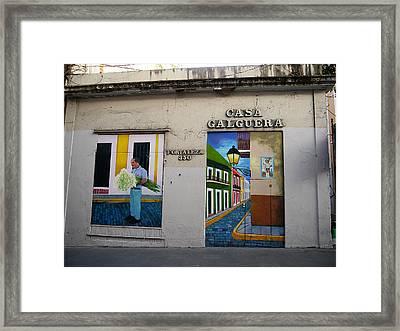 San Juan - Casa Galguera Mural Framed Print by Richard Reeve