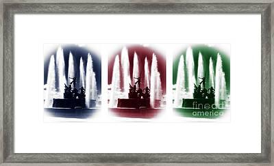 San Juan Fountain Colors Framed Print by John Rizzuto
