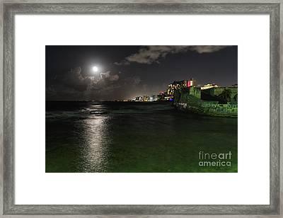 San Juan Full Moon Scenic Framed Print by George Oze