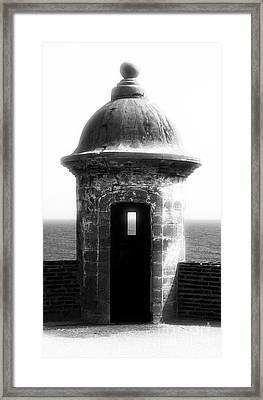 San Juan Guard Tower Framed Print by John Rizzuto