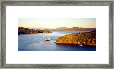 San Juan Islands Washington Usa Framed Print by Panoramic Images