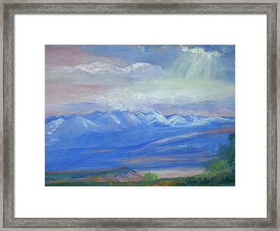 San Juan Mountains Colorado Framed Print by Patricia Kimsey Bollinger