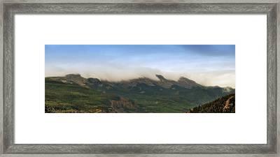 San Juan Mountian Range Framed Print