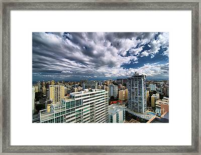 San Juan Puerto Rico Cityscape Framed Print by Amy Cicconi