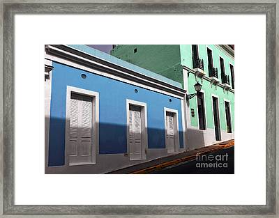 San Juan Street Colors Framed Print by John Rizzuto