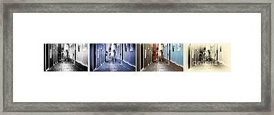 San Juan Tones Collage Framed Print by John Rizzuto