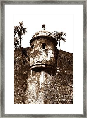 San Juan Tower Framed Print by John Rizzuto