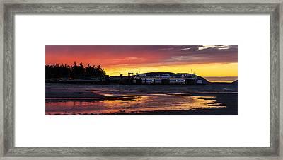 San Juans Ferry Sunset Twilight Framed Print by Mike Reid